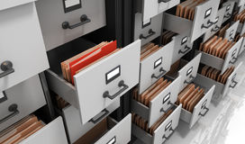 Files in the Storage. 3D Render Stock Image