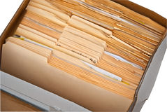 Files Stored in a Box Royalty Free Stock Image