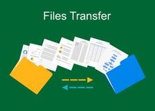 Files transfer illustration. Documents management illustration. Stock Images
