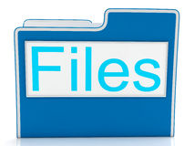 Files Word Showing Organizing And Data Royalty Free Stock Image