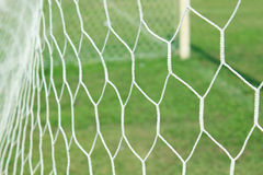 Filet abstrait de but du football Images libres de droits