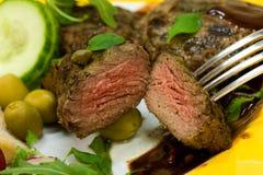 Filet-Aloyau grillé d'agneau Images stock