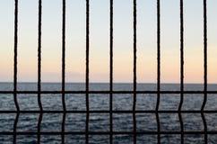 Filet au-dessus de l'Océan Atlantique Image stock