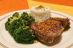 Filet With Broccoli Royalty Free Stock Photos