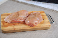 Filet brut de poulet photographie stock