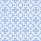 Filet crochet lace design with cross ornaments. Royalty Free Stock Images