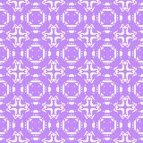 Filet crochet lace design with cross ornaments. Seamless background in violet Stock Image