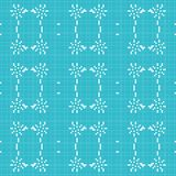 Filet crochet lace design. Seamless background Stock Image