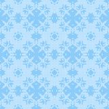 Filet crochet lace design. Seamless background in blue Royalty Free Stock Images