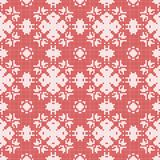 Filet crochet lace design. Seamless background in red Royalty Free Stock Image