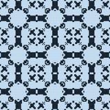 Filet crochet lace design. Seamless pattern. Filet crochet lace design. Seamless blue pattern Stock Photography