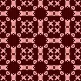 Filet crochet lace design. Seamless pattern in red. Spectrum Royalty Free Stock Photo