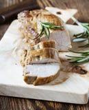 Filet délicieux de rôti de porc Photos libres de droits