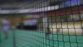Filet de badminton banque de vidéos