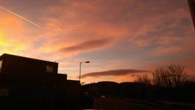 Filet de coucher du soleil Photographie stock libre de droits