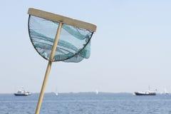 Filet de Fising du côté de mer Photo stock
