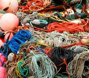 Filet de pêche coloré Image libre de droits