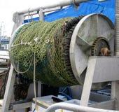 Filet de pêche de senne coulissante sur la bobine Photographie stock libre de droits