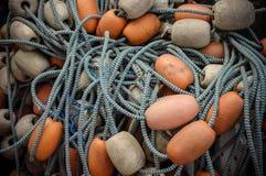 Filet de pêche et flotteurs Images stock