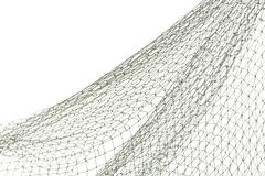 Filet de pêche sur le fond blanc image stock