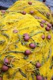 Filet de pêche jaune Images stock