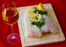 Filet de poissons crus Image stock
