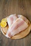 Filet de poissons crus Photos stock