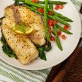 Filet de poissons cuit au four Image stock