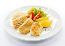 Filet de poissons frit Photographie stock