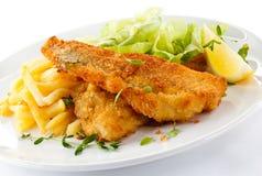 Filet de poissons frit photo stock