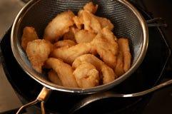 Filet de poissons frit image stock