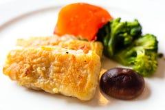 Filet de poissons frit Photos stock