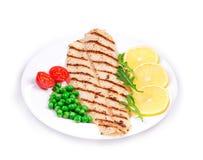 Filet de poissons grillé Photographie stock