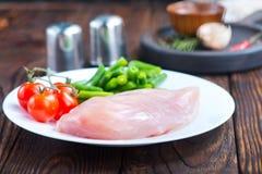 Filet de poulet avec des légumes Image libre de droits