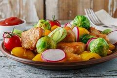 Filet de poulet frit Photographie stock