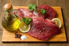 Filet de thon frais Image stock