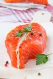 Filet des poissons rouges photo stock