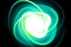 Filet dynamique vert Photo libre de droits