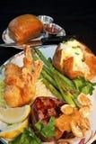 Filet et crevette Photo stock