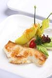 Filet et légumes de poissons Image libre de droits