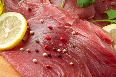 Filet of fresh tuna Stock Photos