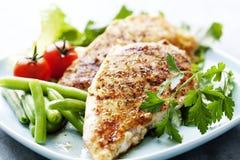 Filet grillé de Brest de poulet Photos libres de droits
