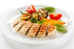 Filet grillé de poulet Photographie stock libre de droits