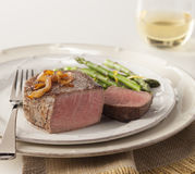 Filet with grilled onions Royalty Free Stock Photos