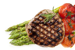 Filet Mignon with Asparagus and Cherry Tomatoes Royalty Free Stock Photography