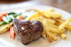 Filet mignon beef steak. In close up stock photography