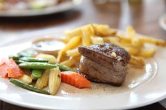 Filet mignon beef steak. In close up stock photos