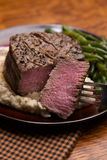 Filet Mignon with Bite taken out, Medium Rare Stock Photography