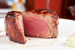 Filet mignon. Char-grilled to medium rare Stock Photos