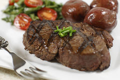 Filet Mignon Cooked Stock Photos